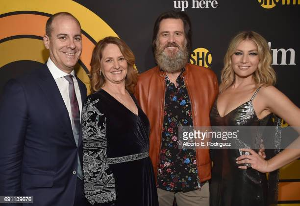 David Nevins Showtime Networks President CEO actress Melissa Leo executive producer Jim Carrey and actress Ari Graynor attend the premiere of...