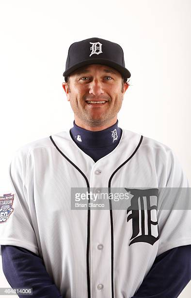 David Newhan of the Detroit Tigers poses for a photo during the Tigers' photo day on February 28 2015 at Joker Marchant Stadium in Lakeland Florida