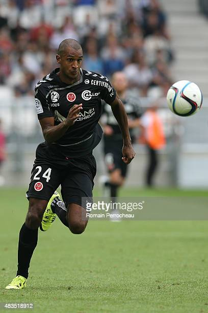 David Ngog during the French Ligue 1match between FC Girondins de Bordeaux and Stade de Reims at Nouveau Stade Bordeaux on August 9 2015 in Bordeaux...