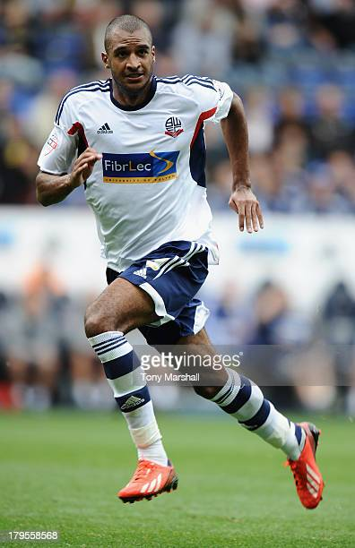 David Ngog of Bolton Wanderers during the Sky Bet Championship match between Bolton Wanderers and Queens Park Rangers at Reebok Stadium on August 24...