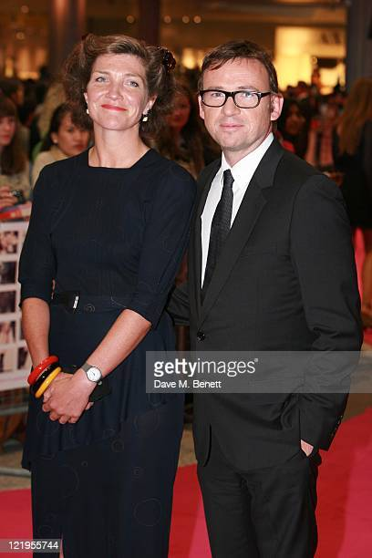 David Nicholls and guest attend the European premiere of 'One Day' at The Vue Westfield on August 23 2011 in London England