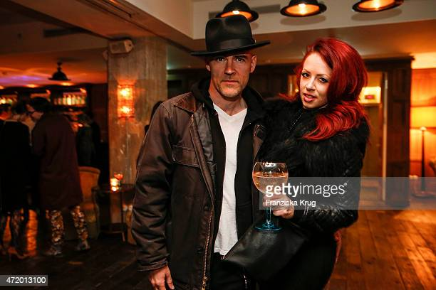 David Nicholson and Tracy Anderson attend the Artist Weekend Berlin and Soho House party with Bombay Sapphire on May 02 2015 in Berlin Germany
