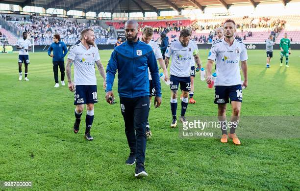 David Nielsen head coach of AGF Aarhus leaving the pitch after the Danish Superliga match between FC Midtjylland and AGF Aarhus at MCH Arena on July...
