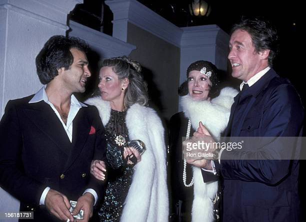 David Niven Camilla Sparv and guests attend the birthday party for Rod Stewart on January 10 1981 at the Rod Stewart's home in Beverly Hills...