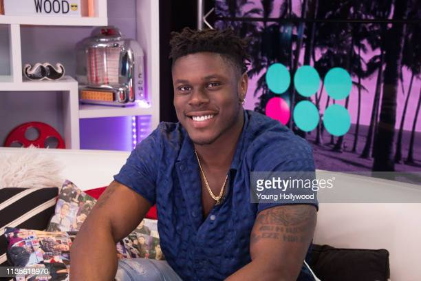 David Njoku visits the Young Hollywood Studio on March 13 2019 in Los Angeles California