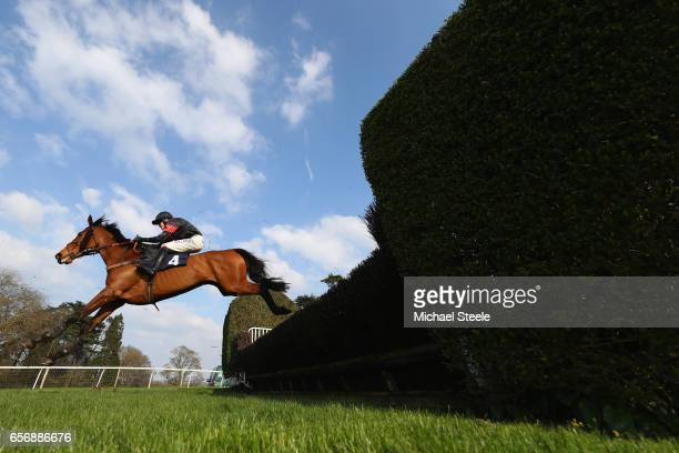 David Noonan riding Cailleach Annie during the ECIC Handicap Steeple Chase race at Chepstow Racecourse on March 23 2017 in Chepstow Wales