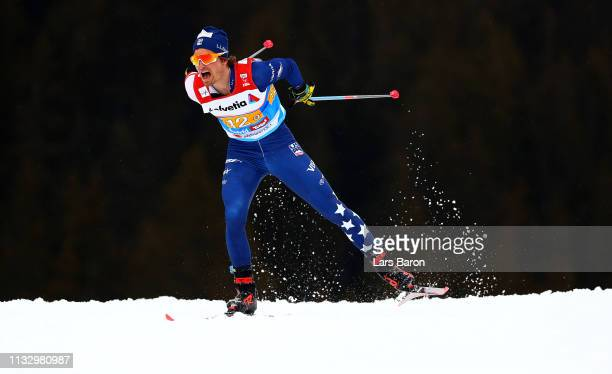 David Norris of United States competes in the Men's Cross Country Relay during the 2019 FIS Nordic World Ski Championships at Cross Country Arena on...