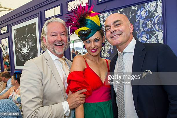 David NovakPiper and Lisa Carter and Neale Whitaker attend Magic Millions Raceday on January 14 2017 in Gold Coast Australia
