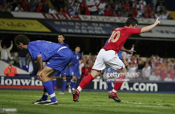 David Nugent celebrates Englands second goal during the UEFA European Under 21's Group 8 match between England U21's and Moldova U21's at Portman...