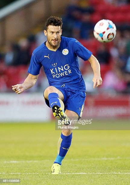 David Nugent of Leicester City in action during the preseason friendly between Lincoln City and Leicester City at Sincil Bank Stadium on July 21 2015...