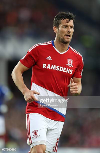 David Nugent of Middlesbrough during the Premier League match between Everton and Middlesbrough at Goodison Park on September 17 2016 in Liverpool...