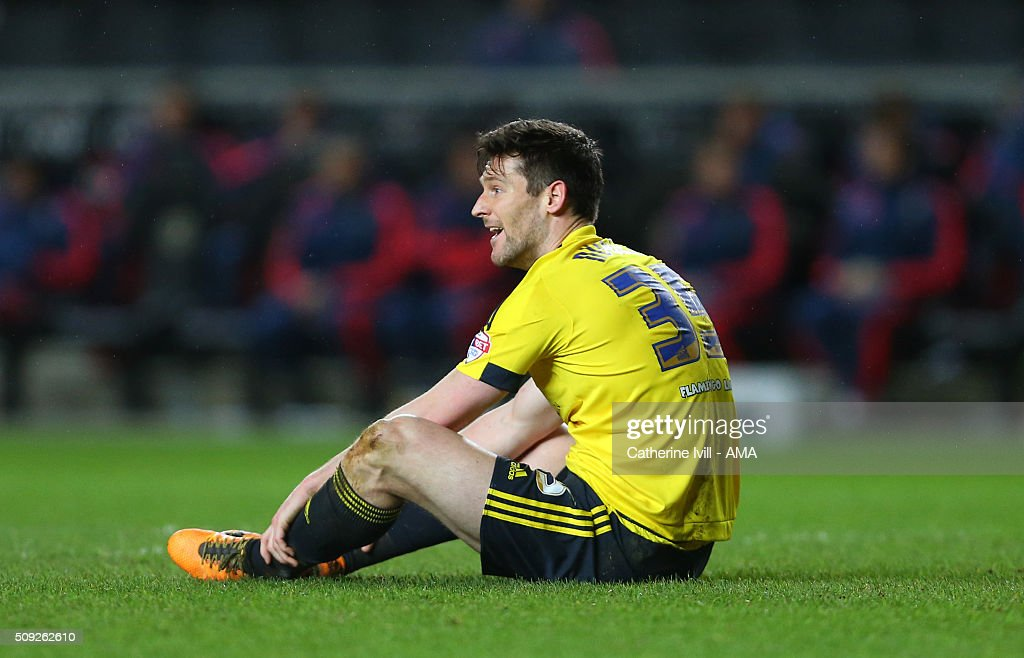 David Nugent of Middlesbrough during the Sky Bet Championship match between MK Dons and Middlesbrough at Stadium mk on February 9, 2016 in Milton Keynes, England.