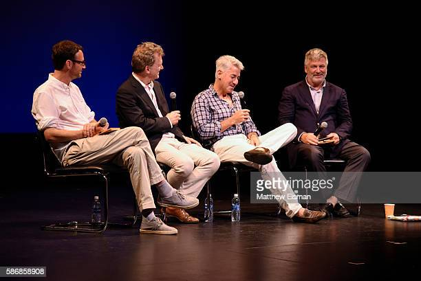 David Nugent Ted Braun Bill Ackman and Alec Baldwin attend the Hamptons International Film Festival SummerDocs Series screening of Betting On Zero at...