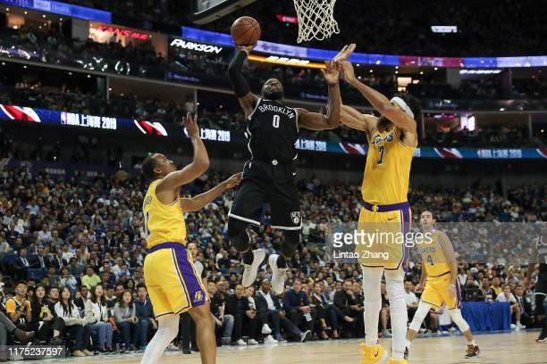 David Nwaba of the Brooklyn Nets in action against the Los Angeles Lakers during a preseason game as part of 2019 NBA Global Games China on October...