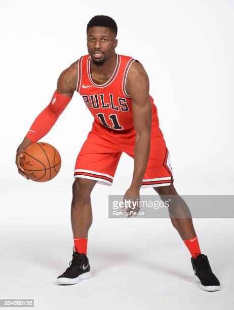 David Nwaba of the Chicago Bulls poses for a portrait during the 201718 NBA Media Day on September 25 2017 at the United Center in Chicago Illinois...