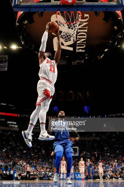 David Nwaba of the Chicago Bulls shoots the ball during the game against the Orlando Magic on November 3 2017 at Amway Center in Orlando Florida NOTE...