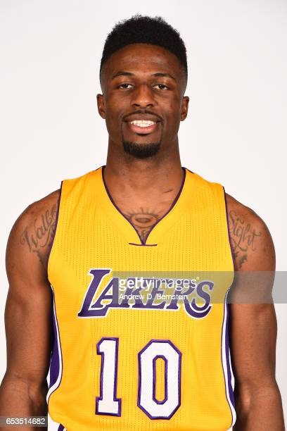 David Nwaba of the Los Angeles Lakers poses for a head shot on March 12 2017 at STAPLES Center in Los Angeles California NOTE TO USER User expressly...