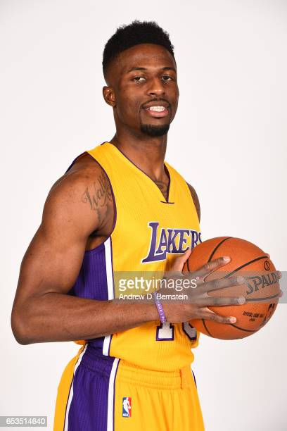 David Nwaba of the Los Angeles Lakers poses for portraits on March 12 2017 at STAPLES Center in Los Angeles California NOTE TO USER User expressly...