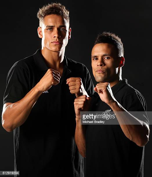 David Nyika and Joshua Nyika pose during the New Zealand Olympic teams Rio 2016 Olympic Games portrait session on February 15 2016 in Cambridge New...