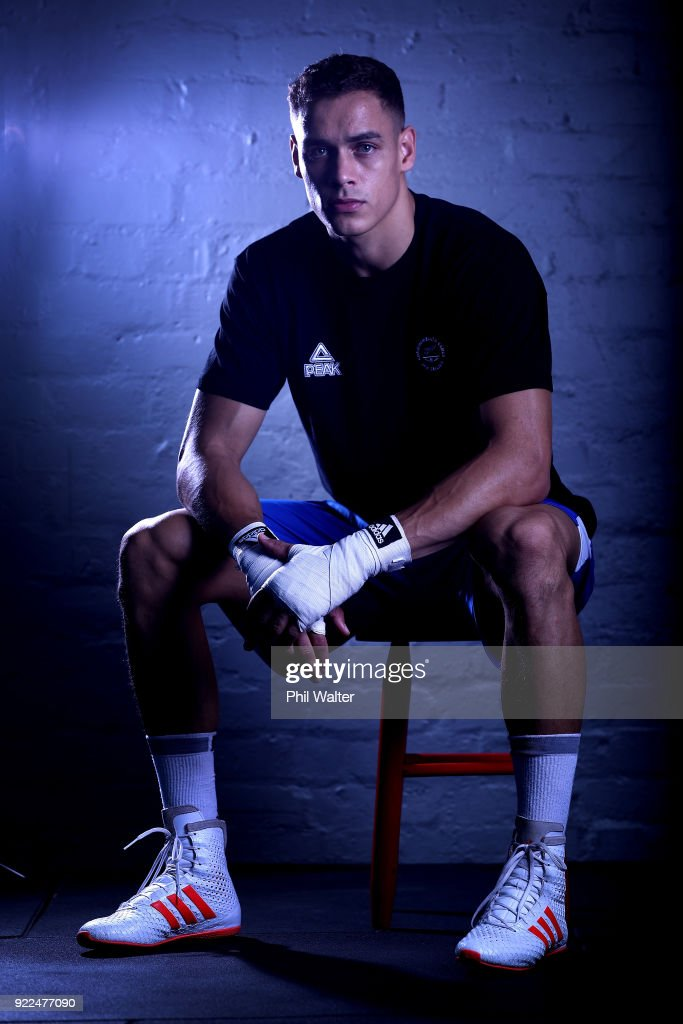 David Nyika poses for a portrait during the New Zealand Commonwealth Games Boxing Team Announcement at Wreck Room on February 22, 2018 in Auckland, New Zealand.