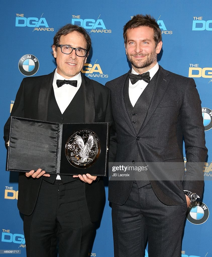 David O. Russell and Bradley Cooper attend the 66th Annual Directors Guild Of America Awards - Press Room held at the Hyatt Regency Century Plaza on January 25, 2014 in Century City, California.
