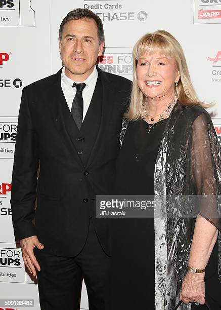 David O Russell and Diane Ladd attend AARP's Movie For GrownUps Awards at the Beverly Wilshire Four Seasons Hotel on February 8 2016 in Beverly Hills...