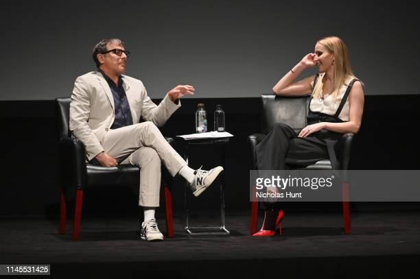 David O. Russell and Jennifer Lawrence speaks at the Tribeca Talks - Director Series - David O. Russell with Jennifer Lawrence at the 2019 Tribeca...