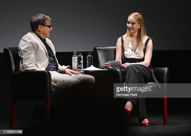 David O Russell and Jennifer Lawrence speaks at the Tribeca Talks Director Series David O Russell with Jennifer Lawrence at the 2019 Tribeca Film...