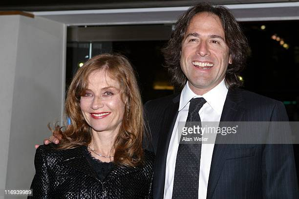 David O Russell director and Isabelle Huppert during I Heart Huckabees London Premiere at Odeon Leicester Square in London United Kingdom