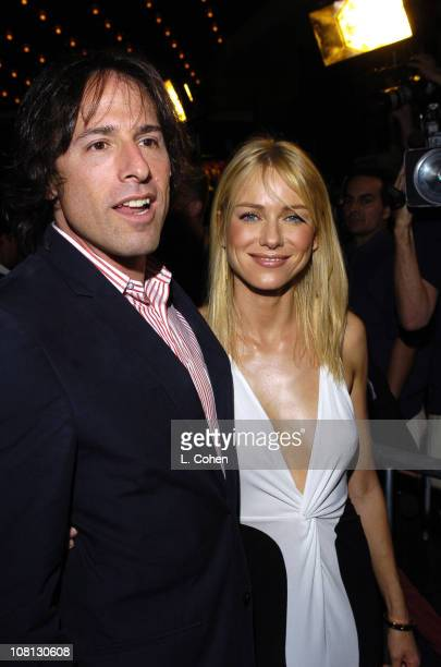 David O Russell director and Naomi Watts during Details Magazine and GUESS Host I Heart Huckabees Premiere Red Carpet at The Grove in Los Angeles...