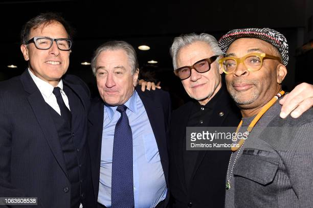 David O. Russell, Robert DeNiro, Harvey Keitel and Spike Lee attend The Museum Of Modern Art Film Benefit Presented By CHANEL: A Tribute To Martin...