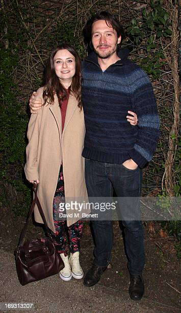 David Oakes and Jennifer Kirby at a performance of 'To Kill A Mockingbird' at Regents Park Open Air Theatre on May 22 2013 in London England
