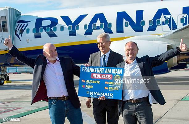 David O'Brien Chief Commercial Officer at Irish lowcost airline Ryanair Stefan Schulte chairman of the Fraport AG Frankfurt airport operator and...
