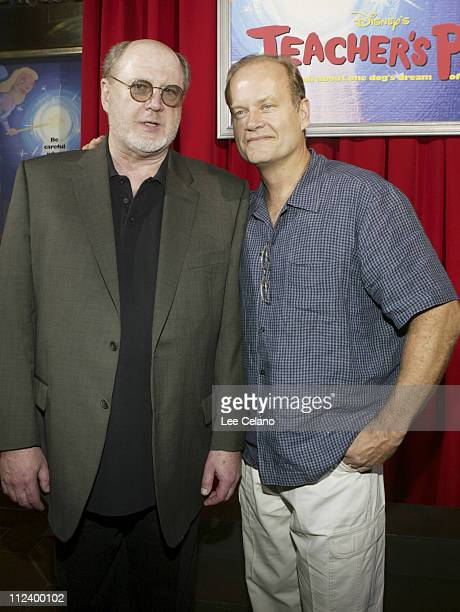 David Ogden Stiers and Kelsey Grammer during World Premiere of 'Teacher's Pet' Red Carpet at El Capitan Theatre in Hollywood California United States