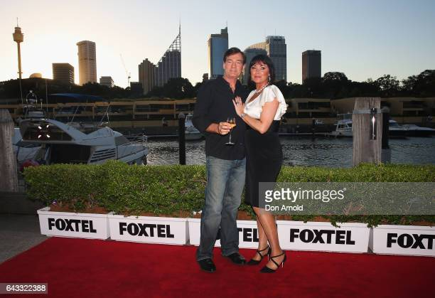David Oldfield and Lisa Oldfield attend The Real Housewives of Sydney Launch Event at Otto restaurant on February 21 2017 in Sydney Australia