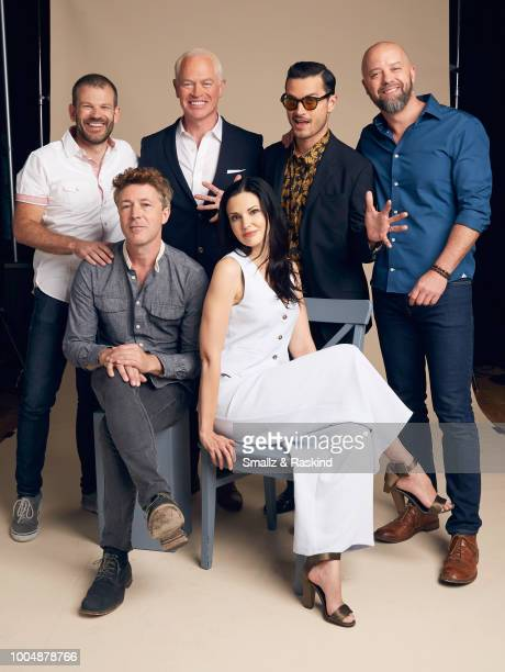 David O'Leary Aidan Gillen Neal McDonough Laura Mennell Michael Malarkey and Sean Jablonski from AE Studios and Compari Entertainment's 'Project Blue...