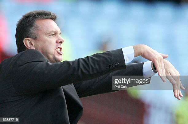 David O'Leary manager of Aston Villa during the Barclays Premiership match between Aston Villa and Middlesbrough at Villa Park on October 2 2005 in...