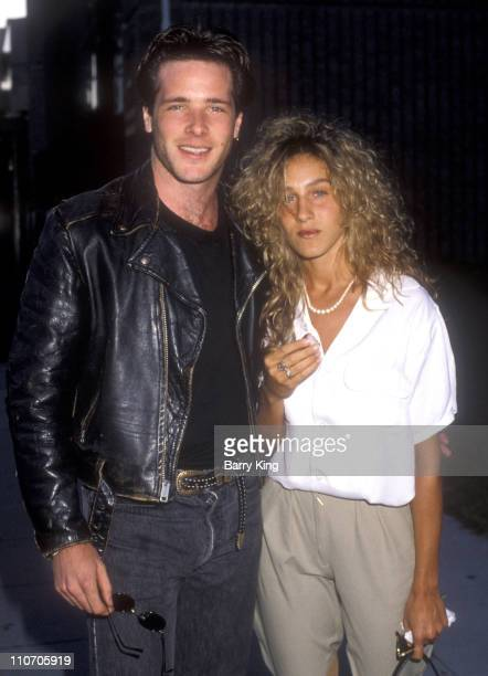 David Oliver and Sarah Jessica Parker during 'Bull Durham' Screening June 7 1988 at The Academy in Beverly Hills CA United States