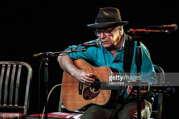 David Olney performing during the Dave Alvin's ' West of the West ' train tour at the Soiled Dove in Denver Colorado on April 23 2015