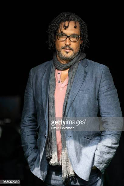 David Olusoga historian and broadcaster at the Hay Festival on May 27 2018 in HayonWye Wales
