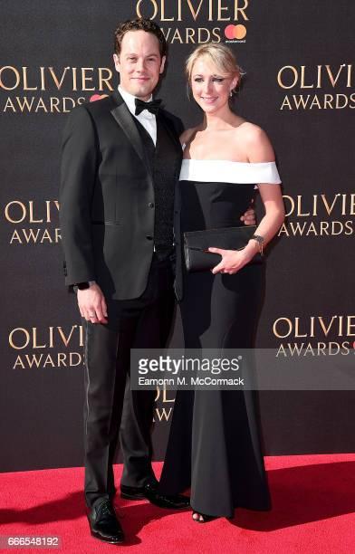 David O'Mahony and Ali Bastian attend The Olivier Awards 2017 at Royal Albert Hall on April 9 2017 in London England