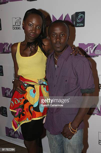 David Omwange arrives at the MTV Africa Music Awards with Zain at the Moi International Sports Centre on October 10 2009 in Nairobi Kenya