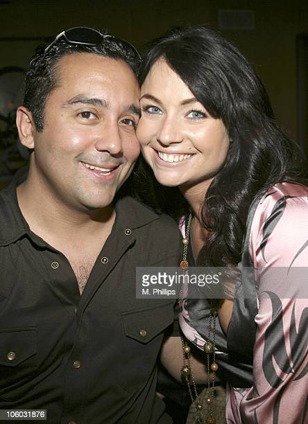 David Ortiz and Lindsey Labrum during Last Chance for Animals Fundraiser at Private in Beverly Hills CA United States