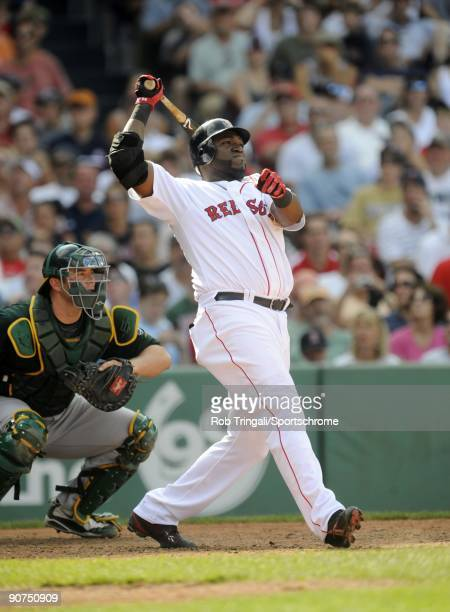 David Ortiz of the Boston Red Sox at bat against the Oakland Athletics at Fenway Park on July 30 2009 in Boston Massachusetts The Red Sox defeated...