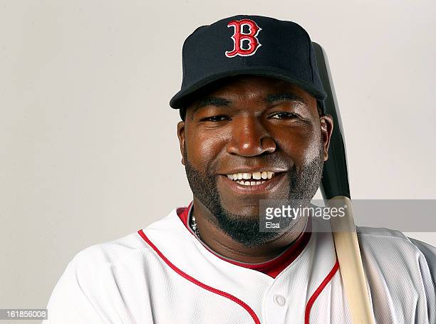 David Ortiz of the Boston Red Sox poses for a portrait on February 17 2013 at JetBlue Park at Fenway South in Fort Myers Florida