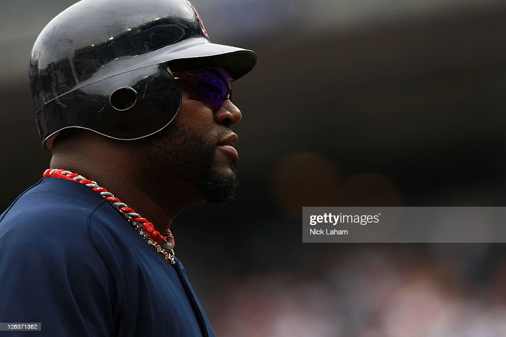 David Ortiz #34 of the Boston Red Sox walks to the dugout after being out on base against the New York Yankees on September 25, 2011 at Yankee Stadium in the Bronx borough of New York City.