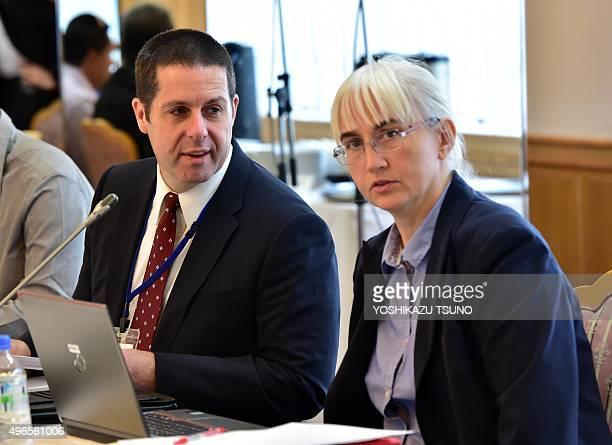 David Osborn director of the International Atomic Energy Agency Environment Laboratories and Iolanda Osvath IAEA Environment Laboratories...