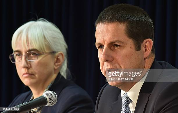 David Osborn director of the International Atomic Energy Agency's Environment Laboratories in Monaco and Iolanda Osvath head of the Agencys...