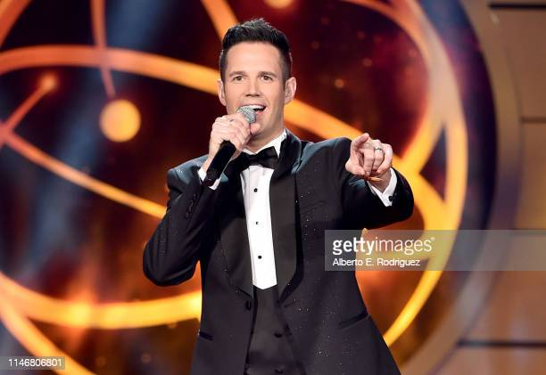 David Osmond speaks onstage during the 46th annual Daytime Creative Arts Emmy Awards at Pasadena Civic Center on May 03, 2019 in Pasadena, California.