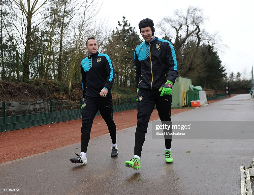 Arsenal FC Training Session & Press Conference : News Photo